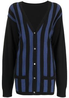 Cynthia Rowley Maya striped cardigan