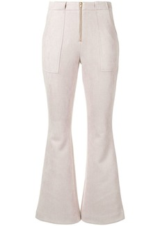 Cynthia Rowley Nadia ankle-crop flared trousers