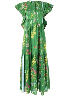 Cynthia Rowley nairobi botanical print kaftan dress