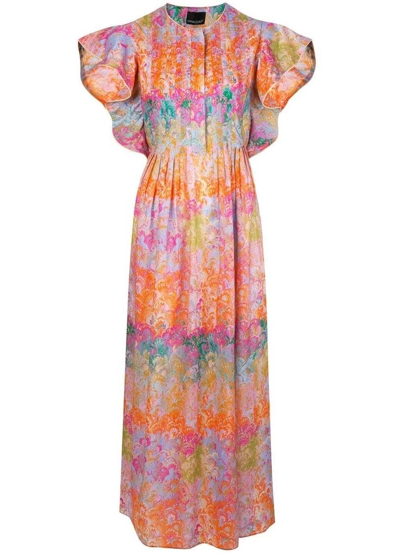 Cynthia Rowley Nairobi marble-print dress