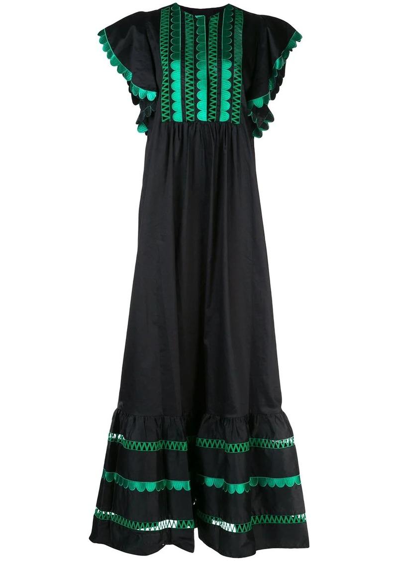 Cynthia Rowley Nairobi scalloped maxi dress