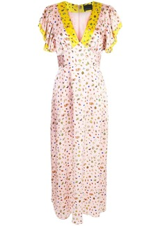 Cynthia Rowley Pamela flutter sleeve maxi dress