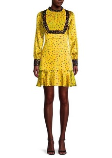 Cynthia Rowley Printed Silk-Blend Prairie Dress