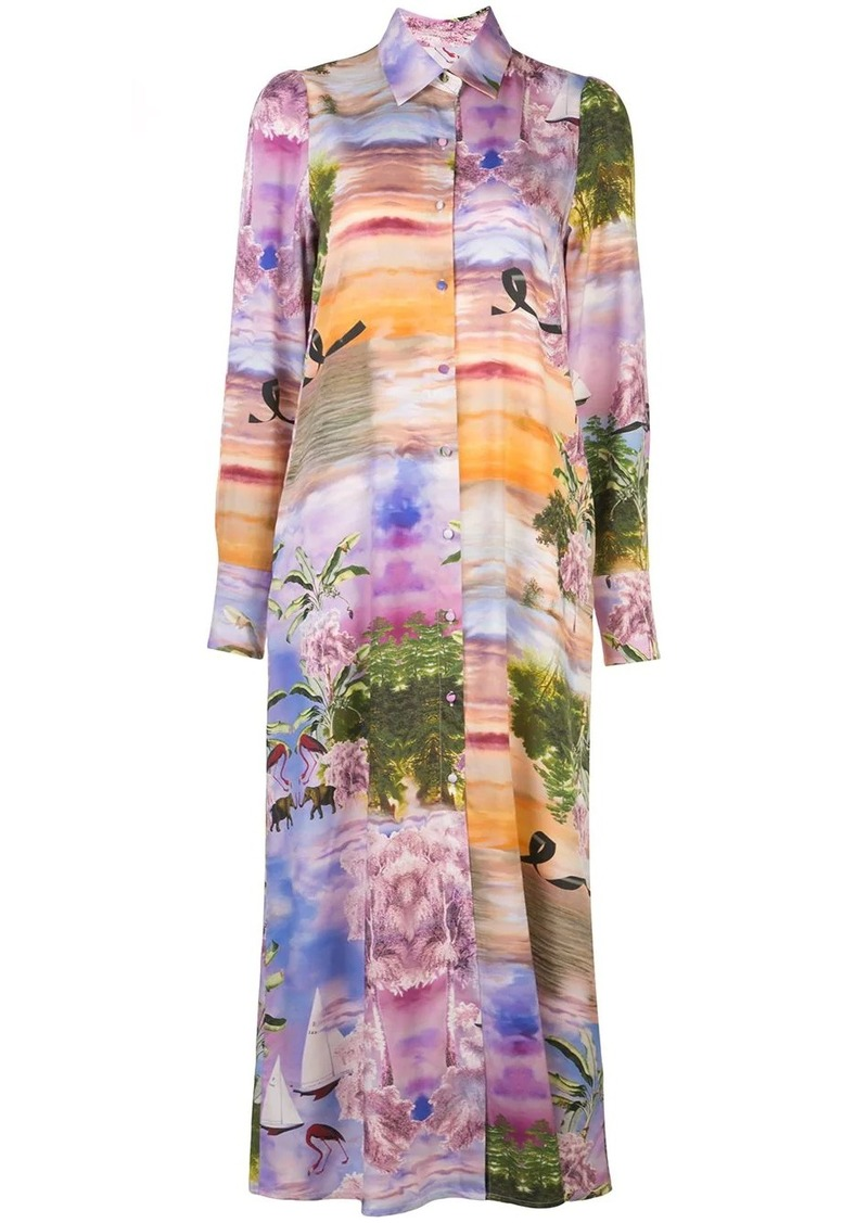 Cynthia Rowley Reeve maxi shirt dress
