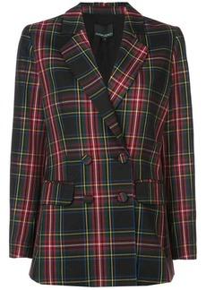 Cynthia Rowley ridley plaid wool blazer