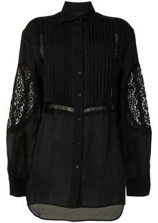 Cynthia Rowley Riley lace-trim tuxedo shirt