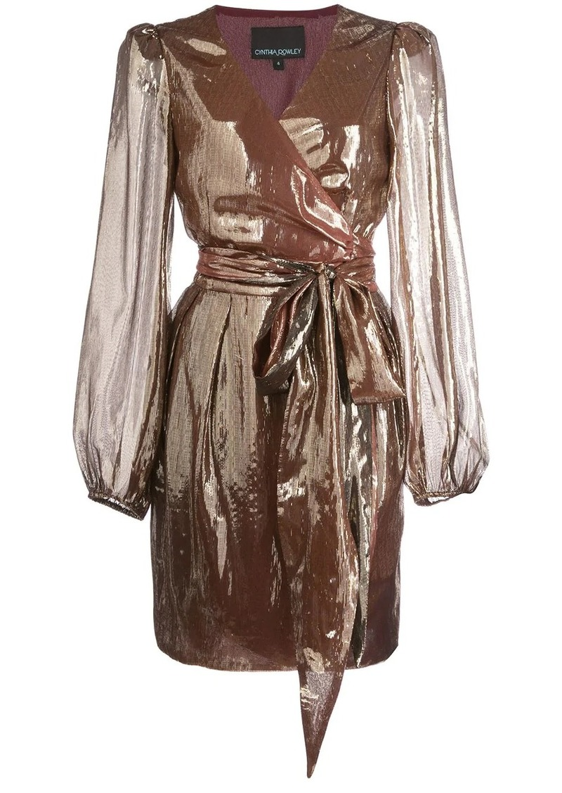 Cynthia Rowley Rocky lame wrap dress