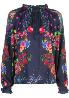 Cynthia Rowley Roseland ruffle neck blouse