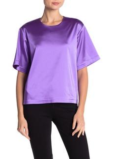 Cynthia Rowley Rush Elbow Sleeve Satin T-Shirt