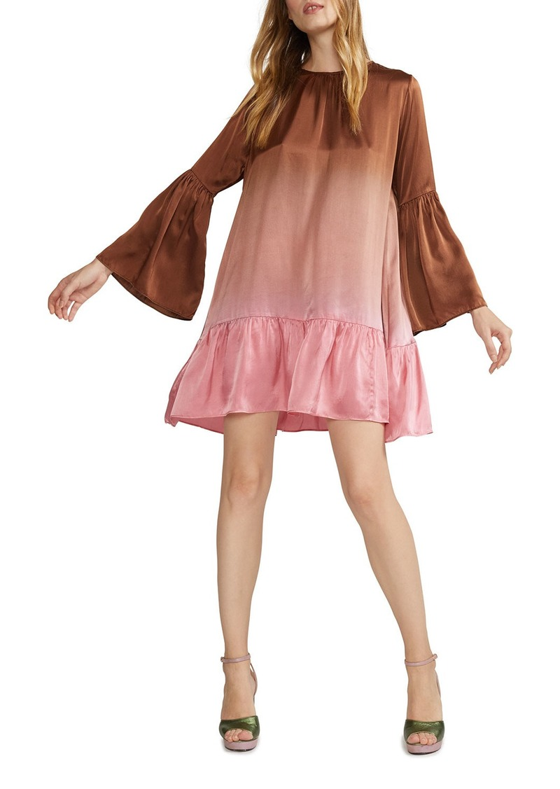 Cynthia Rowley Siena Ombre Bell-Sleeve Swing Dress