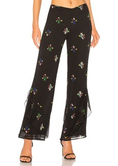 Cynthia Rowley Siren Silk Printed Pant