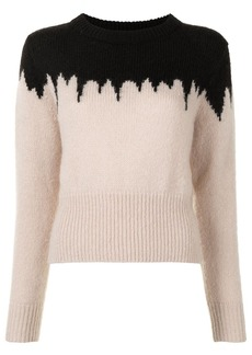 Cynthia Rowley Snowbird intarsia knit jumper