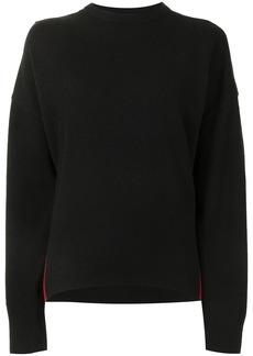 Cynthia Rowley two tone cashmere-blend jumper