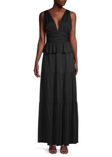 Cynthia Rowley Zadie Tiered Ruffle Maxi Dress