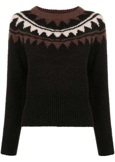 Cynthia Rowley Aspen intarsia knit jumper