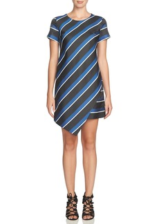 Cynthia Steffe 'Abbey' Stripe Asymmetrical Hem Shift Dress