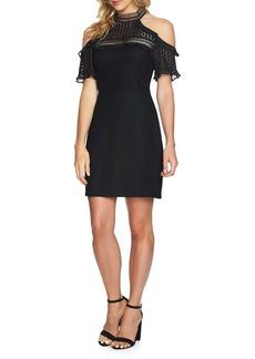 Cynthia Steffe Anne Lace Cold-Shoulder Sheath Dress