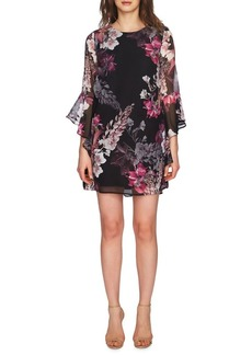 Cynthia Steffe Ashley Midnight Blooms Bell-Sleeve Dress