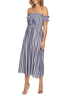 Cynthia Steffe Billie Striped Off-The-Shoulder Maxi Dress