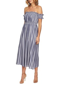 Cynthia Steffe Billie Striped Off-The-Shoulder Maxi Dress