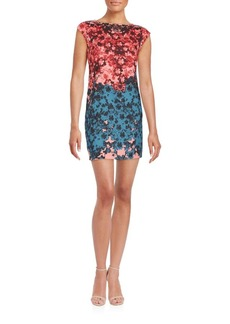 Cynthia Steffe Boatneck Floral Printed Dress