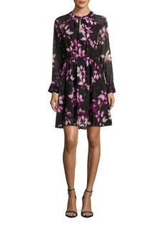 Cynthia Steffe Cara Pleated Floral A-Line Dress