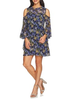 Cynthia Steffe Cold Shoulder Bell-Sleeve Floral Dress