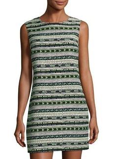 Cynthia Steffe Courtney Sleeveless Geometric Jacquard Shift Dress