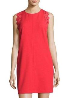 Cynthia Steffe Dahlia Sleeveless Lace-Trim Shift Dress