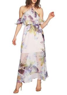 Cynthia Steffe Danielle Tropical Cold-Shoulder Maxi Dress