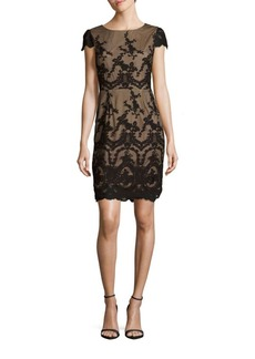 Cynthia Steffe Dina Embroidered Sheath Dress