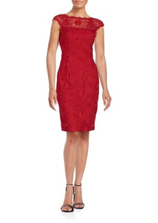 Cynthia Steffe Dina Floral Lace Sheath Dress