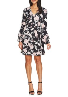 Cynthia Steffe Eden V-Neck Tiered-Sleeve Fit-&-Flare Dress