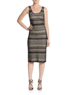 Cynthia Steffe Elise Fitted Stripe Ponte Dress