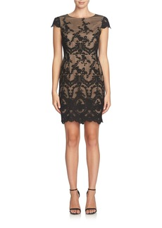 CYNTHIA STEFFE Embroidered Brocade Dress