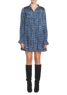 Cynthia Steffe Emily Pleated Tieneck Shirtdress