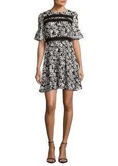 Cynthia Steffe Floral Bell Sleeve Dress