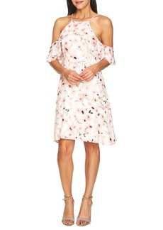 Cynthia Steffe Floral Cold-Shoulder Dress