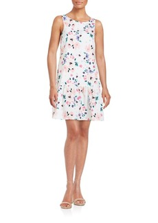 Cynthia Steffe Floral Dropped-Waist Dress