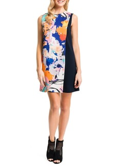 Cynthia Steffe Floral-Solid Sleeveless Shift Dress