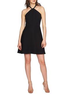 Cynthia Steffe Gigi Twist Neck Lace Combo Fit-And-Flare Dress
