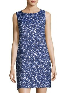 Cynthia Steffe Jade Sleeveless Floral Jacquard Shift Dress