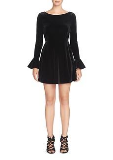 Cynthia Steffe Jayden Velvet Flounced-Cuff Dress