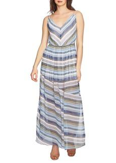 Cynthia Steffe Jordan V-Neck Striped Maxi Dress