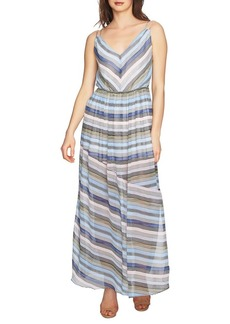 Cynthia Steffe Jordan V-Neck Striped Maxi Dress