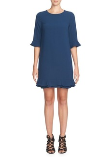 Cynthia Steffe Kate Three-Quarter Sleeve Ruffle Dress
