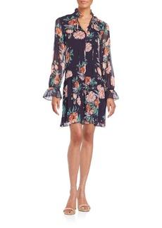 Cynthia Steffe Katherine Floral-Print Drop Waist Dress