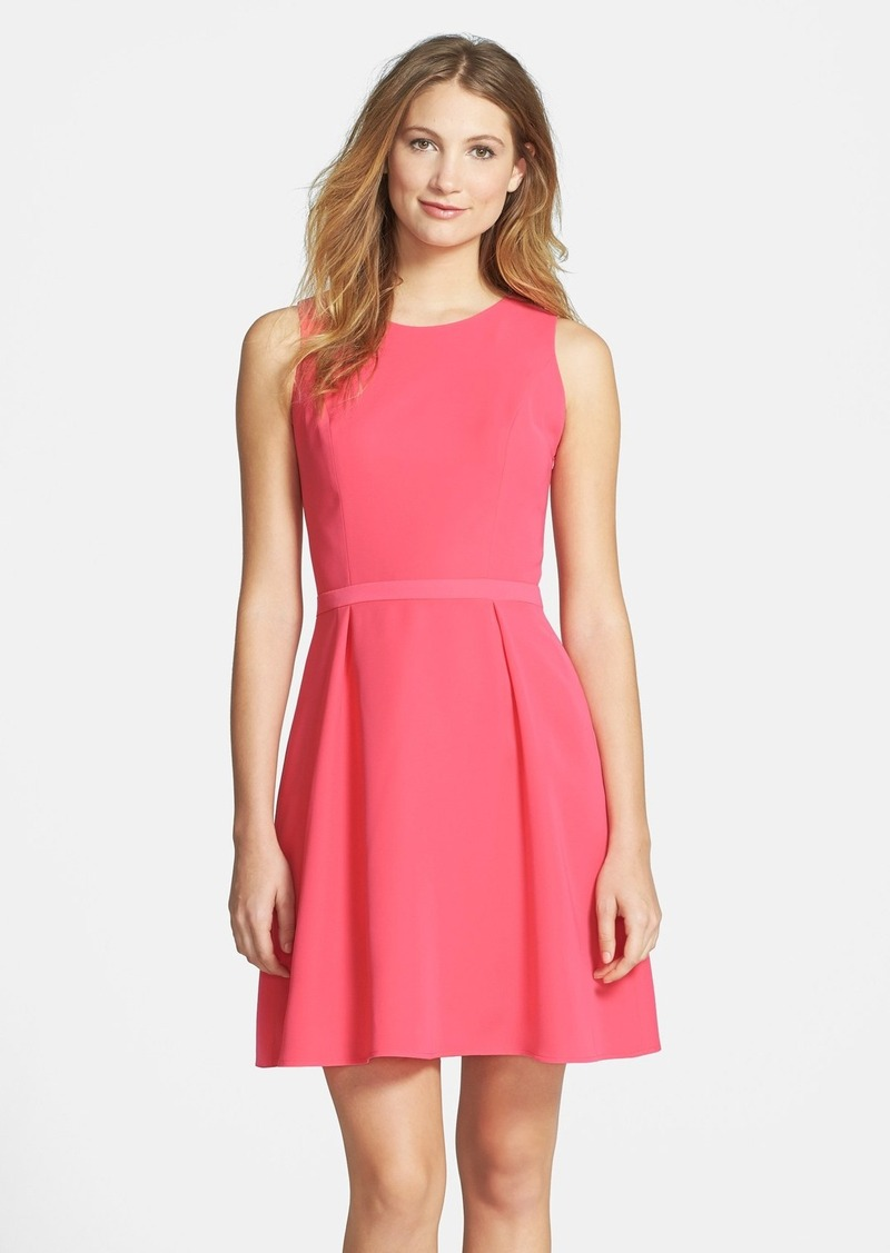 Cynthia Steffe Knot Back Crepe Fit & Flare Dress