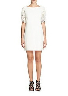 Cynthia Steffe Lace-Accented Shift Dress