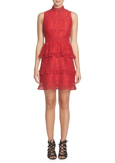 Cynthia Steffe Lace-Tiered Dress